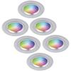 Homeylux Set van 6 stuks smart WiFi RGBWW LED inbouwspots Austin 5,5 Watt IP20
