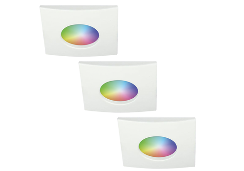 Homeylux Set of 3 smart WiFi RGBWW LED recessed spotlights Garland 5,5 Watt IP44