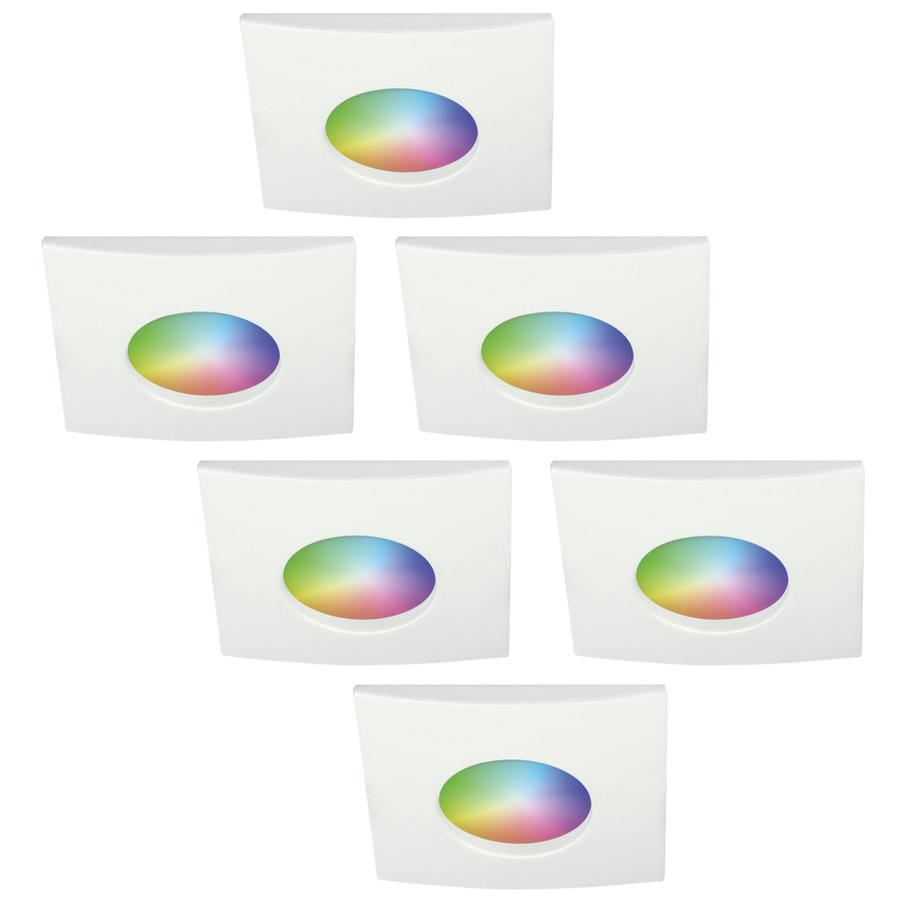 Set van 6 stuks smart WiFi RGBWW LED inbouwspots Garland 5,5 Watt IP44
