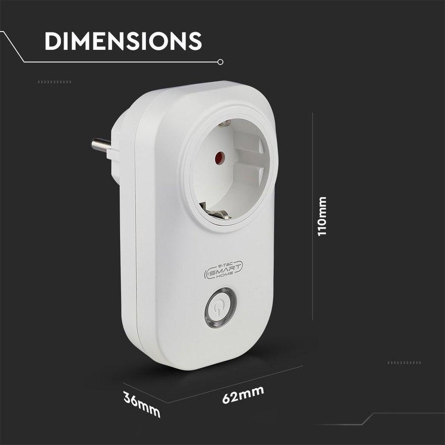 Set van 3 witte slimme stekkers met tijdschakelaar met Amazon Alexa & Google home