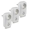 V-TAC Set van 3 witte slimme stekkers met tijdschakelaar met Amazon Alexa & Google home
