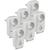 Set of 6 white smart plugs with time switch with Amazon Alexa & Google home