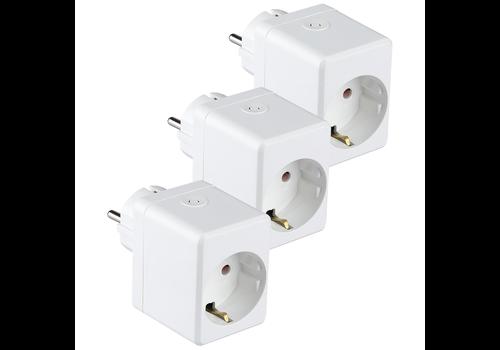 V-TAC Set van 3 witte slimme stekkers met USB poort