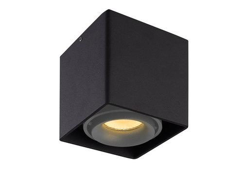 HOFTRONIC™ Dimbare LED Opbouwspot plafond Esto Zwart met grijze afdekring IP20 kantelbaar excl. GU10 lichtbron