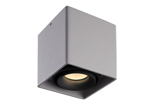 HOFTRONIC™ Dimbare LED opbouw plafondspot Esto Grijs met zwarte afdekring IP20 kantelbaar excl. GU10 lichtbron
