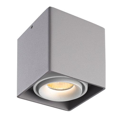 HOFTRONIC™ Dimmbare LED Deckenanbaustrahler Esto Grau mit weißem Abdeckring IP20 Kippbar Exkl. GU10 Lichtquelle