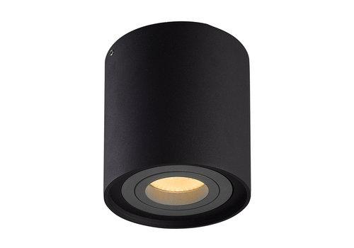 HOFTRONIC™ Dimbare LED opbouw plafondspot Ray Zwart met grijze afdekring IP20 kantelbaar excl. lichtbron