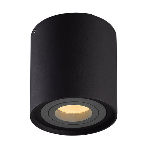 HOFTRONIC™ Dimmable LED surface mounted ceiling spotlight Ray Black with grey bezel IP20 tiltable excl. light source