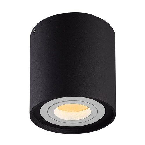 HOFTRONIC™ Dimmable LED surface mounted ceiling spotlight Ray Black with white bezel IP20 tiltable excl. light source