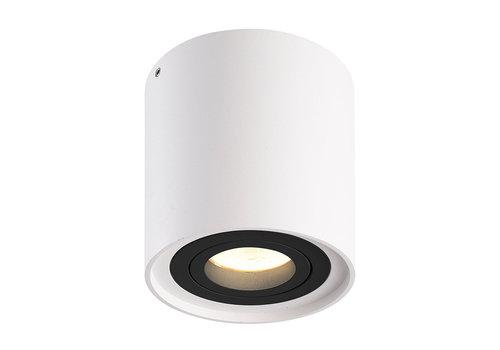 HOFTRONIC™ Dimbare LED opbouw plafondspot Ray Wit met zwarte afdekring IP20 kantelbaar excl. lichtbron