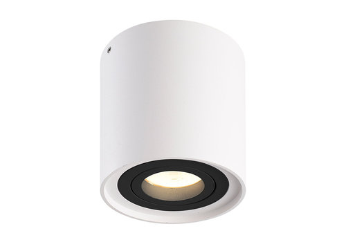 HOFTRONIC™ Dimbare LED Opbouwspot plafond Ray Wit met zwarte afdekring IP20 kantelbaar excl. lichtbron