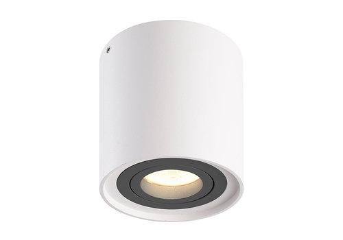 HOFTRONIC™ Dimbare LED opbouw plafondspot Ray Wit met grijze afdekring IP20 kantelbaar excl. lichtbron