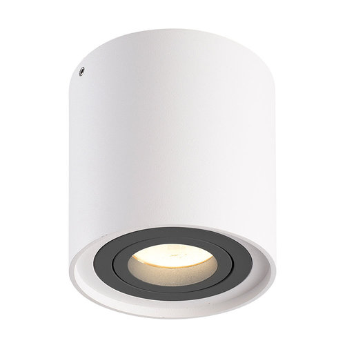 HOFTRONIC™ Dimmable LED surface mounted ceiling spotlight Ray White with grey bezel IP20 tiltable excl. light source