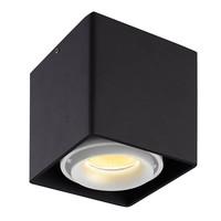 Dimbare LED opbouw plafondspot Esto Zwart/Wit kantelbaar 5W 2700K