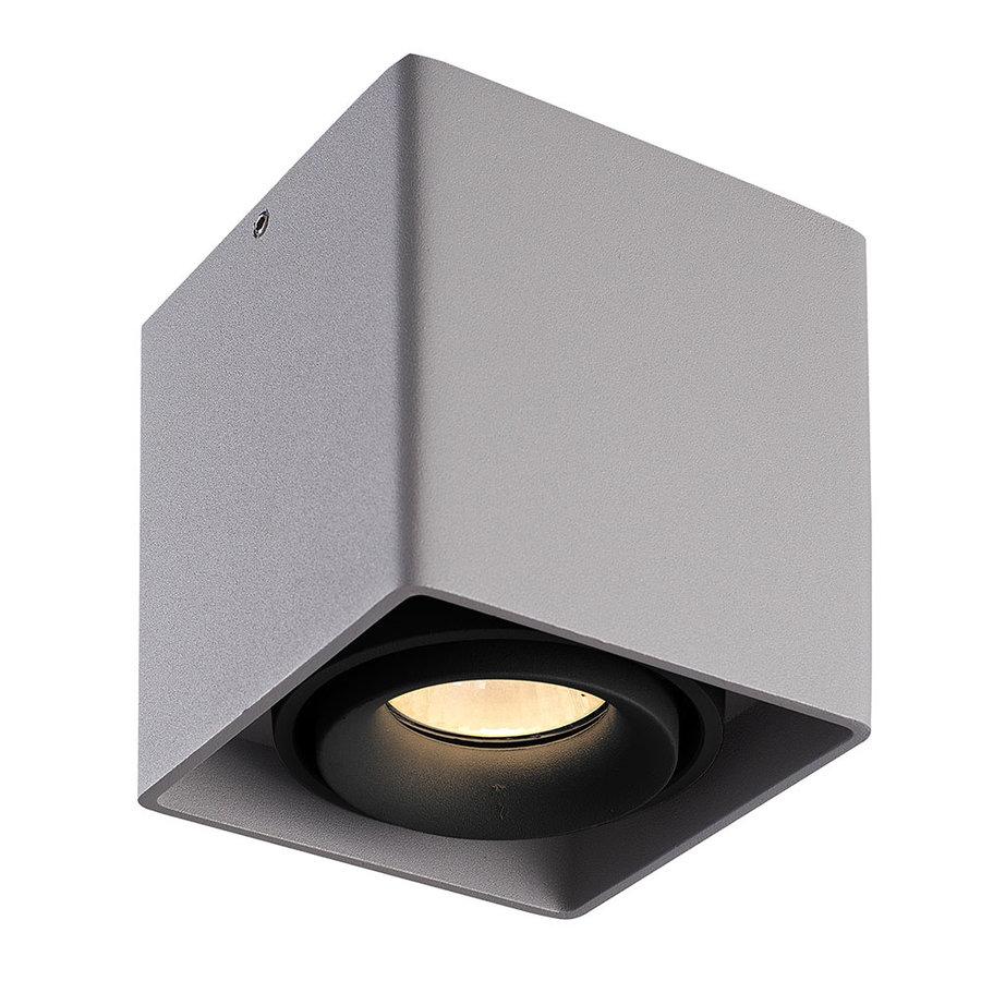 Dimbare LED opbouw plafondspot Esto Grijs/Zwart kantelbaar 5W 2700K