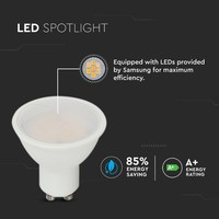 GU10 LED lamp 10 Watt 3000K Samsung (vervangt 70W)
