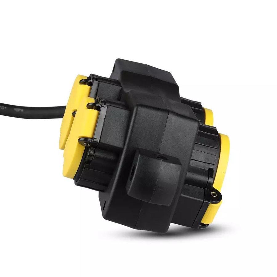 Buiten stekkerdoos met 4 stopcontacten incl. 3 meter kabel IP44 spatwaterbestendig