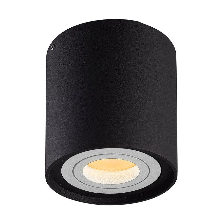 Dimbare LED Opbouwspot plafond Ray Zwart/Wit IP20 kantelbaar 5W 2700K