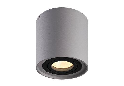 HOFTRONIC™ Dimbare LED opbouw plafondspot Ray Grijs met zwarte afdekring IP20 kantelbaar excl. lichtbron