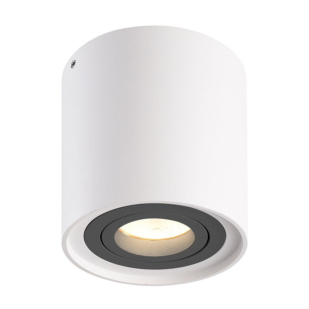 Dimbare LED Opbouwspot plafond Ray Wit/Grijs IP20 kantelbaar 5W 2700K