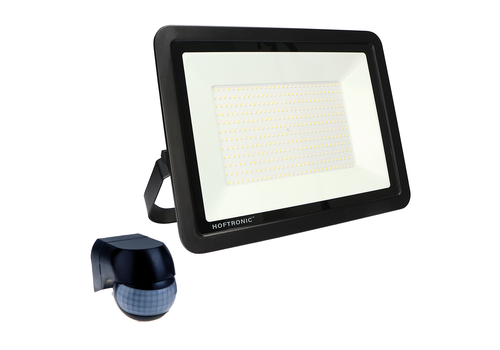 HOFTRONIC™ LED Floodlight with motion sensor and twilight switch 200 Watt 4000K Osram IP65 replaces 1800 Watt