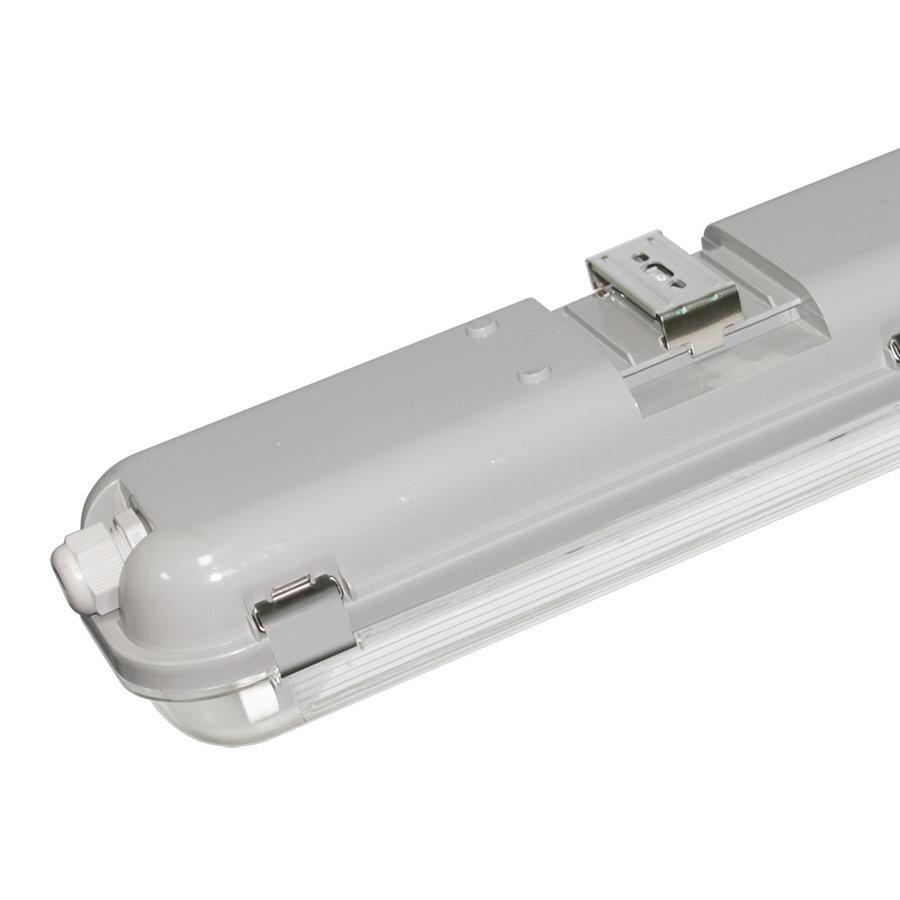 25x LED T8 TL armatuur IP65 120 cm 6000K 18W 5040lm 140lm/W incl. flikkervrije LED buizen koppelbaar
