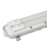 6x LED TL armatuur 120 cm 6000K IP65 incl. 2x18 Watt LED buizen
