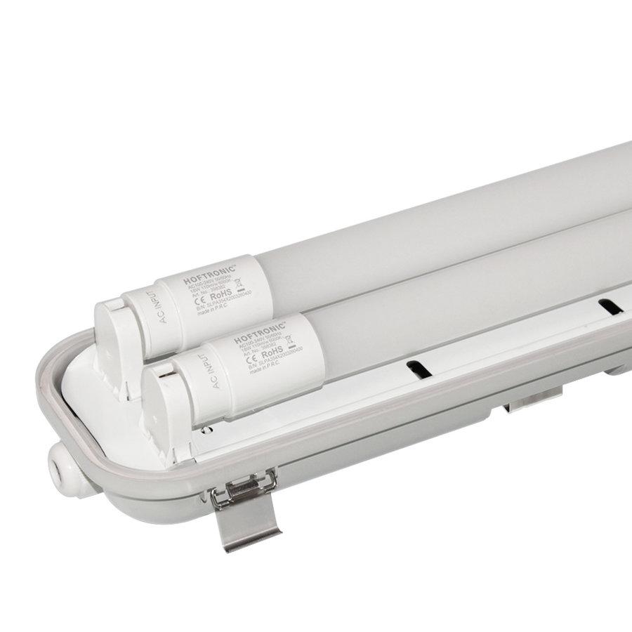 10x LED TL armatuur 120 cm 6000K IP65 incl. 2x18 Watt LED buizen