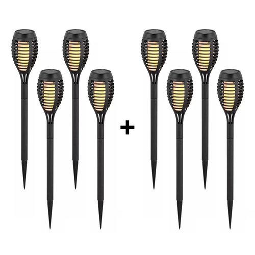 V-TAC 8-PACK LED Solarlamp tuinfakkel met vlammeneffect 2200K IP44 (50cm)