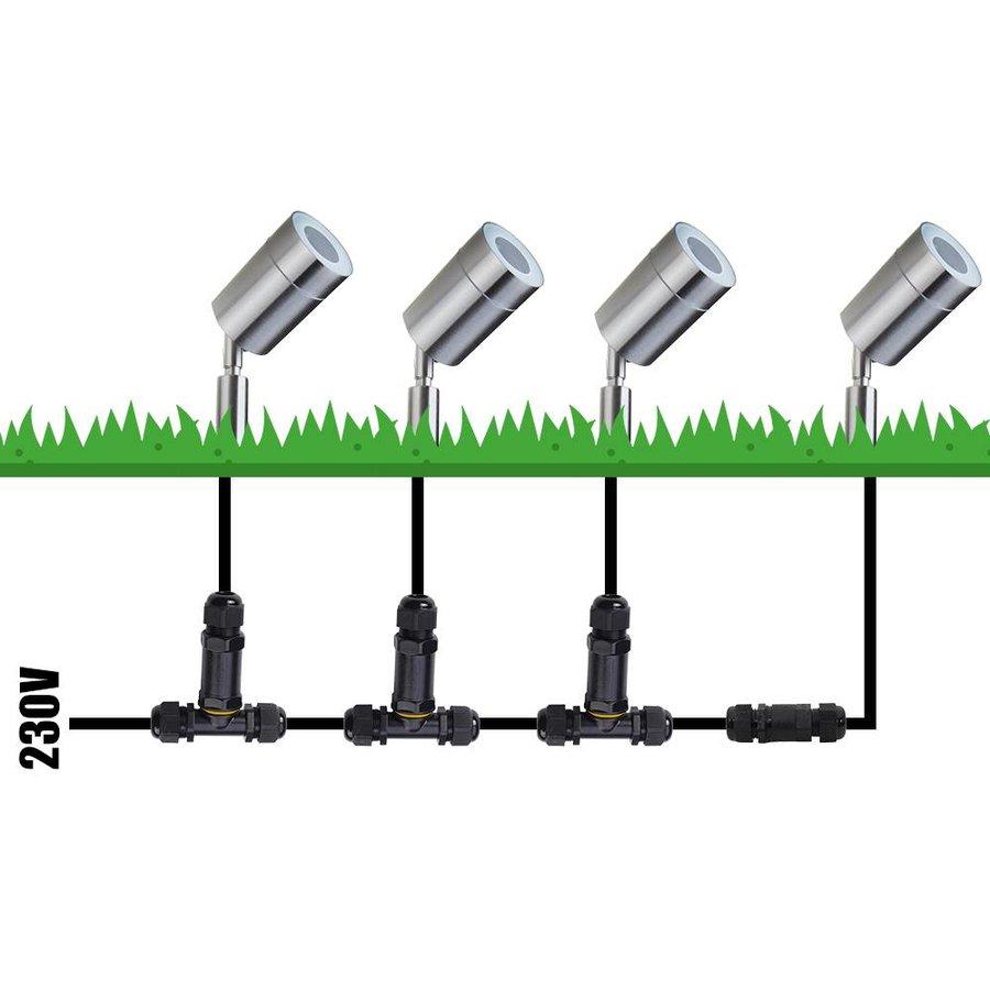 Smart WiFi LED Gardenspike Nancy stainless steel RGBWW IP44 splashproof 3 year warranty