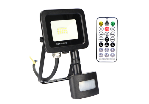 HOFTRONIC™ LED Floodlight with twilight switch 10 Watt 6400K Osram IP65 replaces 90 Watt