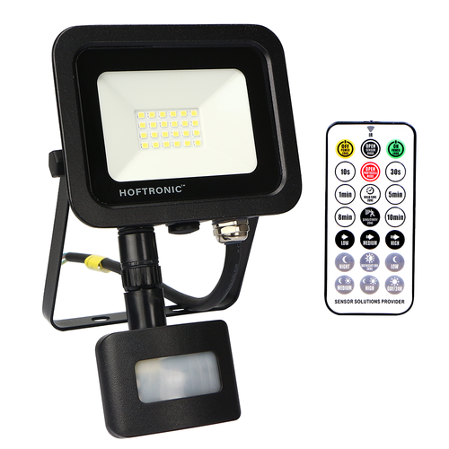 HOFTRONIC™ LED Floodlight with twilight switch 20 Watt 4000K Osram IP65 replaces 180 Watt