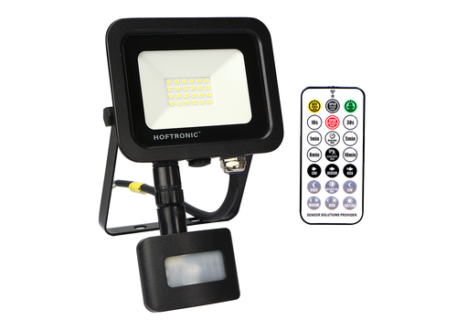 HOFTRONIC™ LED Floodlight with twilight switch 20 Watt 6400K Osram IP65 replaces 180 Watt