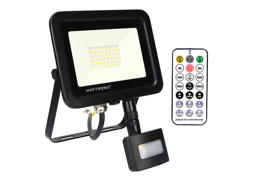 HOFTRONIC™ LED Floodlight with twilight switch 30 Watt 4000K Osram IP65 replaces 270 Watt