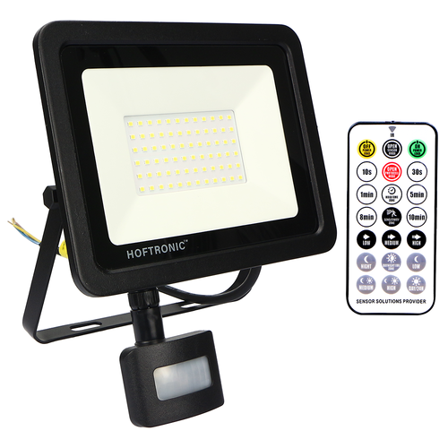 HOFTRONIC™ LED Floodlight with twilight switch 50 Watt 4000K Osram IP65 replaces 450 Watt