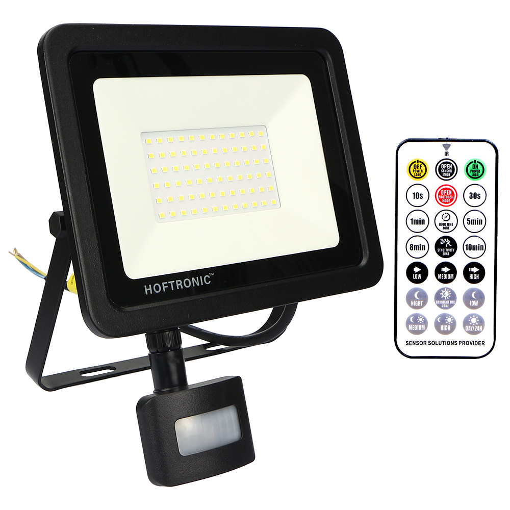 LED Breedstraler met schemerschakelaar 50 Watt 4000K Osram IP65 vervangt 450 Watt
