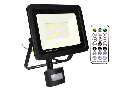 HOFTRONIC™ LED Floodlight with twilight switch 50 Watt 6400K Osram IP65 replaces 450 Watt