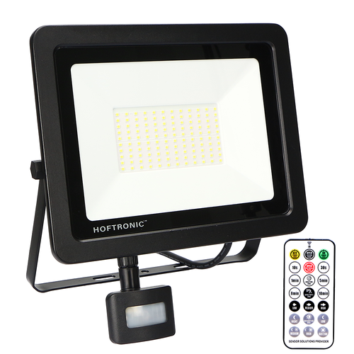 HOFTRONIC™ LED Floodlight with twilight switch 100 Watt 4000K Osram IP65 replaces 1000 Watt