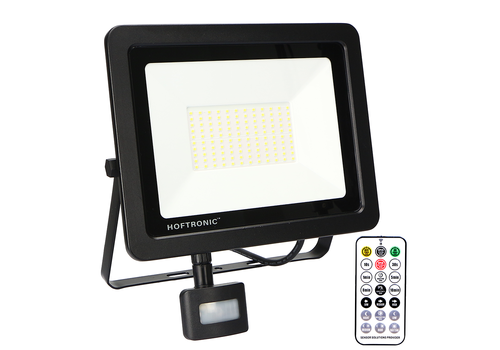 HOFTRONIC™ LED Floodlight with twilight switch 100 Watt 6400K Osram IP65 replaces 1000 Watt