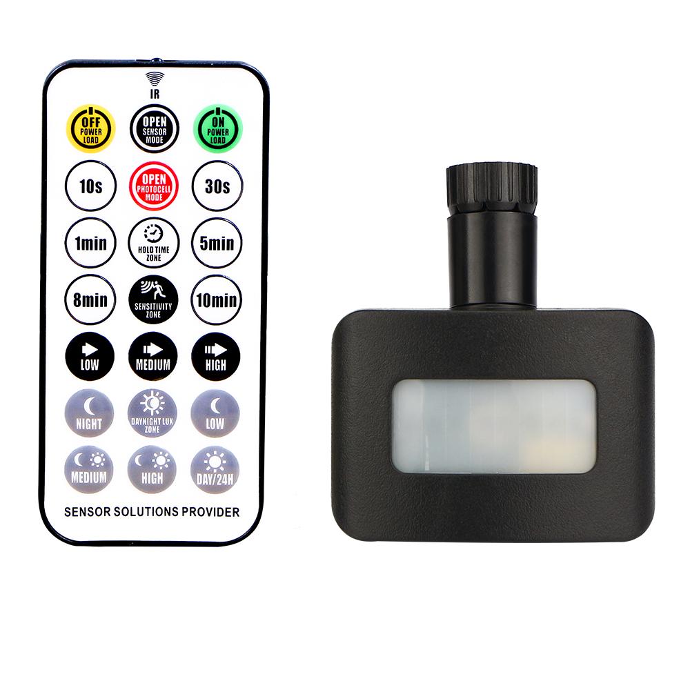 Draadloze Schemerschakelaar Zwart Geschikt voor HOFTRONIC LED Breedstralers 50 - 100W