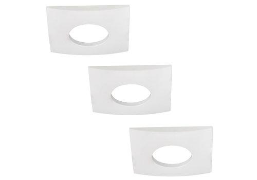 HOFTRONIC™ Set of 3 dimmable LED downlights Garland 5 Watt spot IP44 [waterproof]