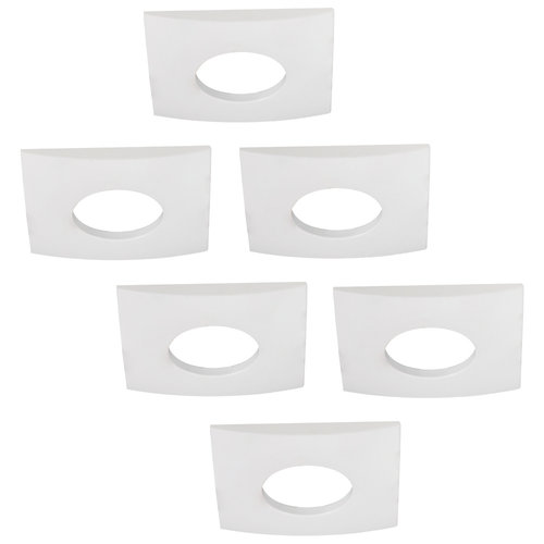 HOFTRONIC™ Set of 6 dimmable LED downlights Garland 5 Watt spot IP44 [waterproof]