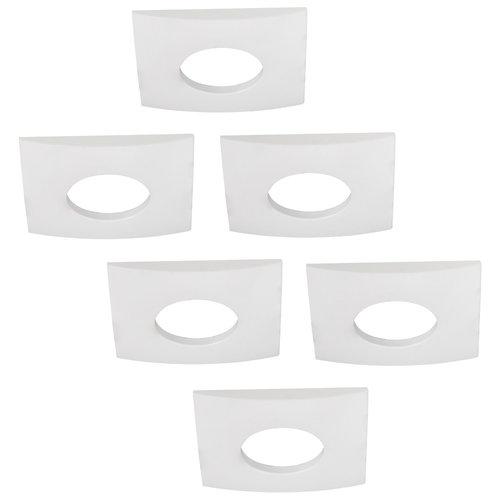 HOFTRONIC™ Set van 6 stuks dimbare LED inbouwspots Garland 4.2 Watt spot IP44 [vochtbestendig]