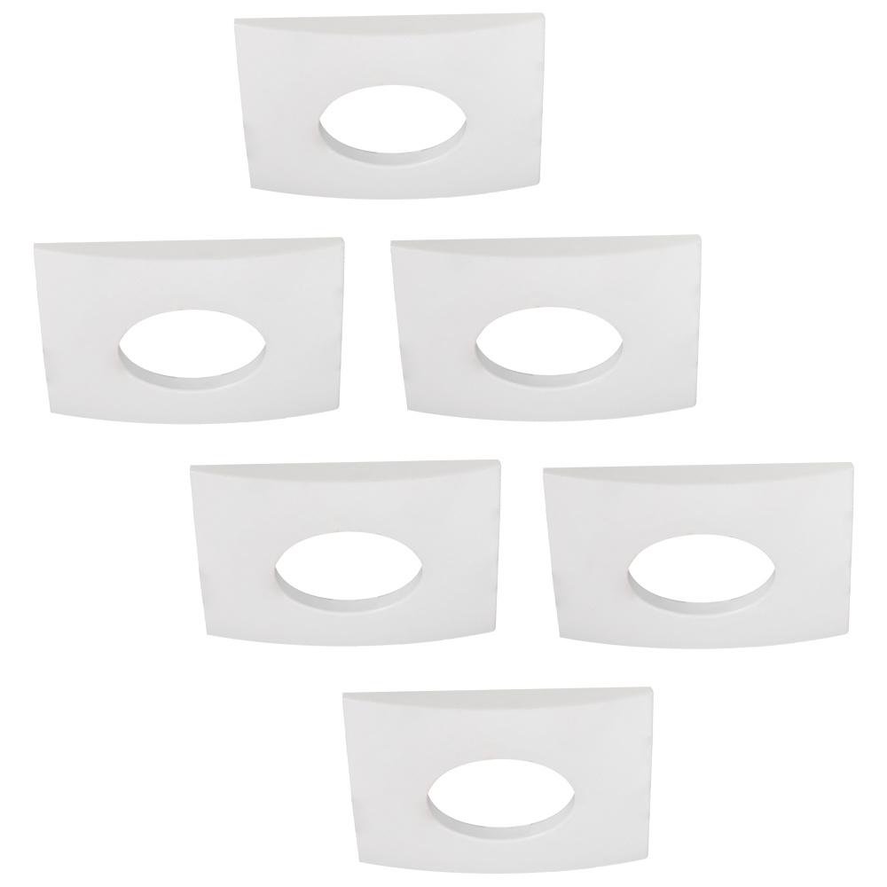 Set van 6 stuks dimbare LED inbouwspots Garland 4.2 Watt spot IP44 [vochtbestendig]