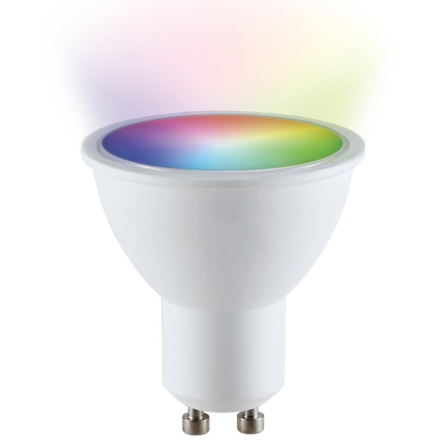 GU10 SMART LED RGBWW Wifi 5 Watt 400lm 110° Dimbaar