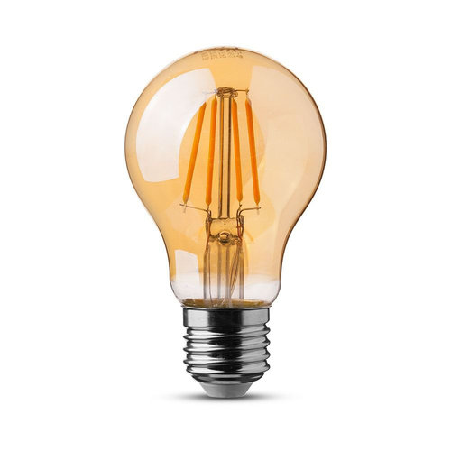 V-TAC LED Bulb with samsung chip 6 Watt E27 A60 Amber cover 2200K