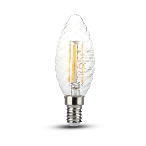 V-TAC LED Filament lamp 4 Watt E14 2700K transparant glas Samsung