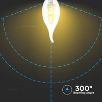 LED Lamp kaars vlam met Samsung chip 4 Watt E14 2700K