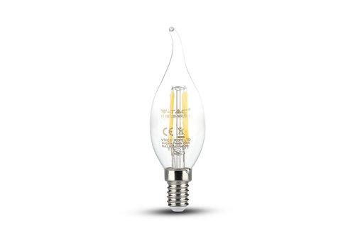 V-TAC LED bulb candle flame with Samsung chip 4 Watt E14 2700K