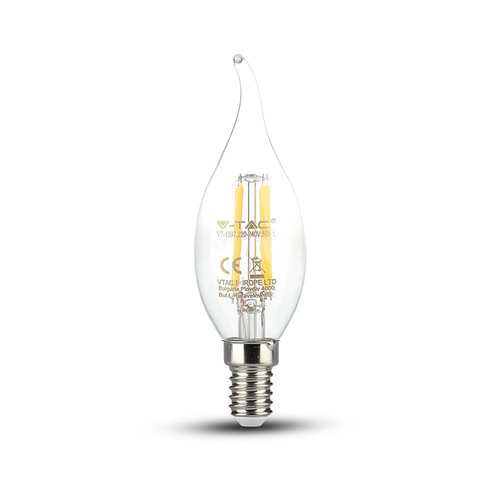 V-TAC LED Lamp kaars vlam met Samsung chip 4 Watt E14 2700K
